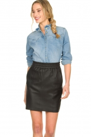 Sofie Schnoor |  Denim blouse Silke | blue  | Picture 2