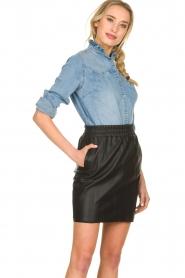 Sofie Schnoor |  Denim blouse Silke | blue  | Picture 5
