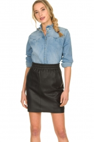Sofie Schnoor |  Denim blouse Silke | blue  | Picture 4