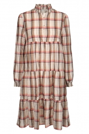 Sofie Schnoor |  Checkered dress Melena | beige  | Picture 1