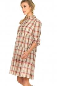 Sofie Schnoor |  Checkered dress Melena | beige  | Picture 4