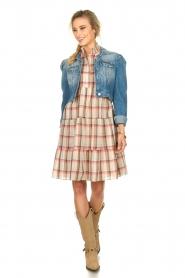 Sofie Schnoor |  Checkered dress Melena | beige  | Picture 3