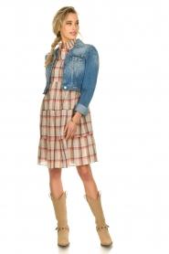 Sofie Schnoor |  Checkered dress Melena | beige  | Picture 6