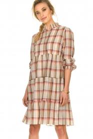 Sofie Schnoor |  Checkered dress Melena | beige  | Picture 2