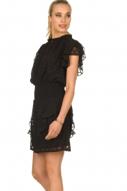 Sofie Schnoor |  Blouse with ruffles Seraphina | black   | Picture 4