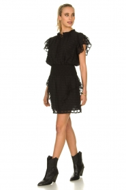 Sofie Schnoor |  Blouse with ruffles Seraphina | black   | Picture 3