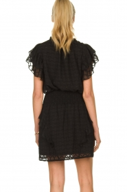 Sofie Schnoor |  Blouse with ruffles Seraphina | black   | Picture 5