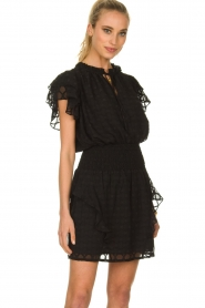 Sofie Schnoor |  Blouse with ruffles Seraphina | black   | Picture 2