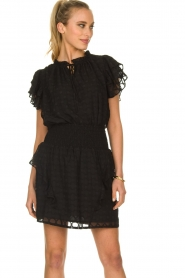 Sofie Schnoor |  Ruffle skirt Ulrikka | black  | Picture 2