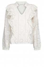 Sofie Schnoor |  Embroidered blouse Rose | white  | Picture 1