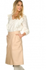 Sofie Schnoor |  Embroidered blouse Rose | white  | Picture 6