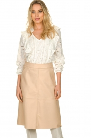 Sofie Schnoor |  Embroidered blouse Rose | white  | Picture 2