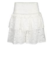 Sofie Schnoor |  Embroidered skirt Rosemarie | white  | Picture 1