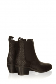 Sofie Schnoor |  Leather snake print boots Vally | black  | Picture 4