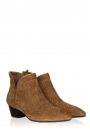 Sofie Schnoor |  Suede studded ankle boots Vally | beige  | Picture 3