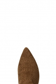 Sofie Schnoor |  Suede studded ankle boots Vally | beige  | Picture 6