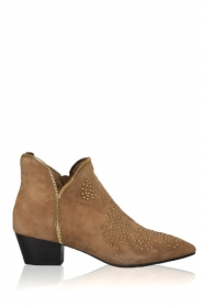 Sofie Schnoor |  Suede studded ankle boots Vally | beige  | Picture 2