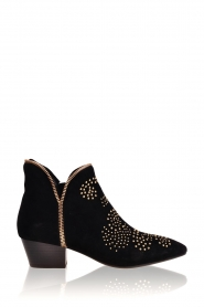 Sofie Schnoor |  Suede studded ankle boots Vally | black  | Picture 1