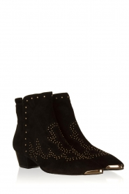 Sofie Schnoor |  Suede studded ankle boots Vally | black  | Picture 4
