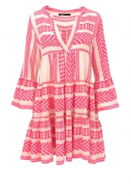Devotion |  Cotton print dress Georgina | pink  | Picture 1