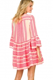 Devotion |  Cotton print dress Georgina | pink  | Picture 5
