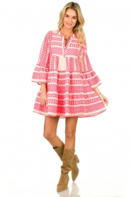 Devotion |  Cotton print dress Georgina | pink  | Picture 3