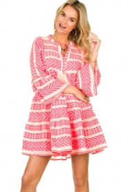 Devotion |  Cotton print dress Georgina | pink  | Picture 2