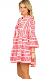 Devotion |  Cotton print dress Georgina | pink  | Picture 4