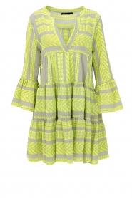 Devotion |  Cotton print dress Georgina | yellow  | Picture 1