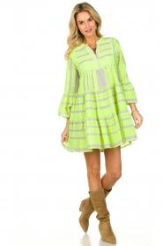 Devotion |  Cotton print dress Georgina | yellow  | Picture 3