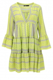 Devotion |  Cotton print dress Georgina | yellow  | Picture 1