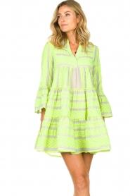 Devotion |  Cotton print dress Georgina | yellow  | Picture 4
