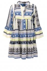 Devotion |  Cotton print dress Georgina | blue  | Picture 1