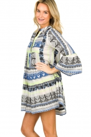 Devotion |  Cotton print dress Georgina | blue  | Picture 5