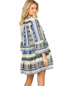 Devotion |  Cotton print dress Georgina | blue  | Picture 6