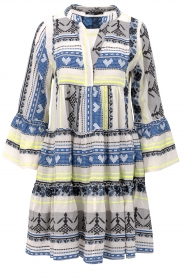 Devotion |  Cotton print dress Georgina | blue  | Picture 1