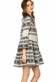 Devotion |   Cotton print dress Gina | black  | Picture 4