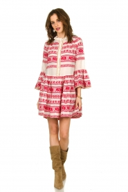 Devotion |  Cotton dress with print Gina | red  | Picture 3