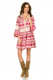 Devotion |  Cotton dress with print Gina | red  | Picture 4