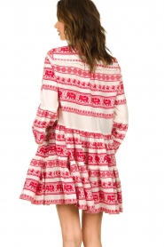 Devotion |  Cotton dress with print Gina | red  | Picture 7
