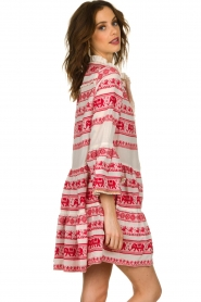 Devotion |  Cotton dress with print Gina | red  | Picture 6