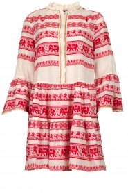 Devotion |  Cotton dress with print Gina | red  | Picture 1