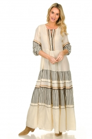 Devotion |  Cotton maxi dress Lizzy | off-white  | Picture 2