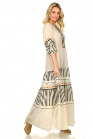 Devotion |  Cotton maxi dress Lizzy | off-white  | Picture 3