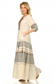 Devotion |  Cotton maxi dress Lizzy | off-white  | Picture 4