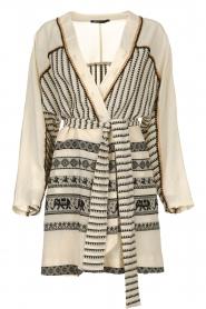 Devotion |  Cotton print dress Jamilla | off-white  | Picture 1