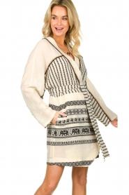 Devotion |  Cotton print dress Jamilla | off-white  | Picture 2