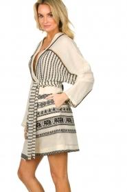 Devotion |  Cotton print dress Jamilla | off-white  | Picture 5