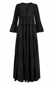 Devotion |  Cotton maxi dress Rochella | black  | Picture 1