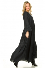 Devotion |  Cotton maxi dress Rochella | black  | Picture 4